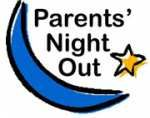 Drawing of Moon & Stars with Words: Parents' Night Out